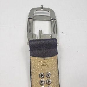 Guess Accessories - Guess rhinestone enlob brown studded belt